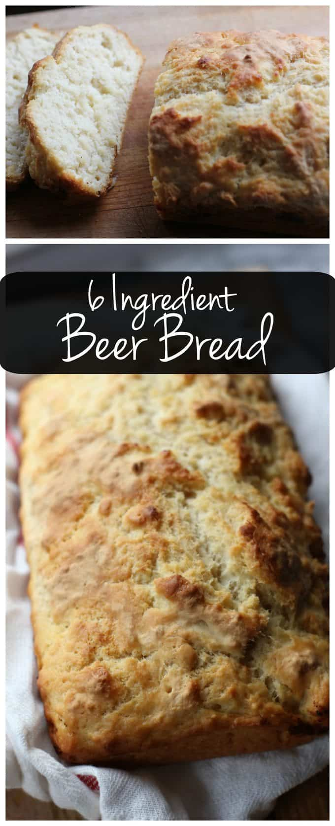 This 6-ingredient beer bread recipe is so easy to make and it tastes amazing! You can have fresh bread in no time.