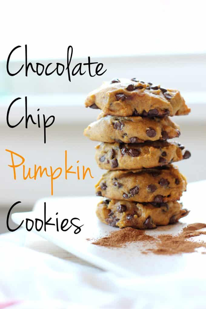 These vegan pumpkin chocolate chip cookies are a healthy twist on a classic favorite! They're soft and cakey, almost like a muffin top. Perfect to make for a party!