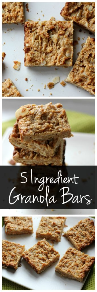 Need a healthy snack idea? Try these 5 ingredient granola bars! They're vegan and gluten free but they're packed with protein!