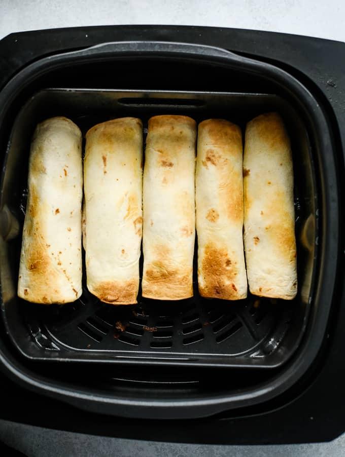 taquitos in an air fryer