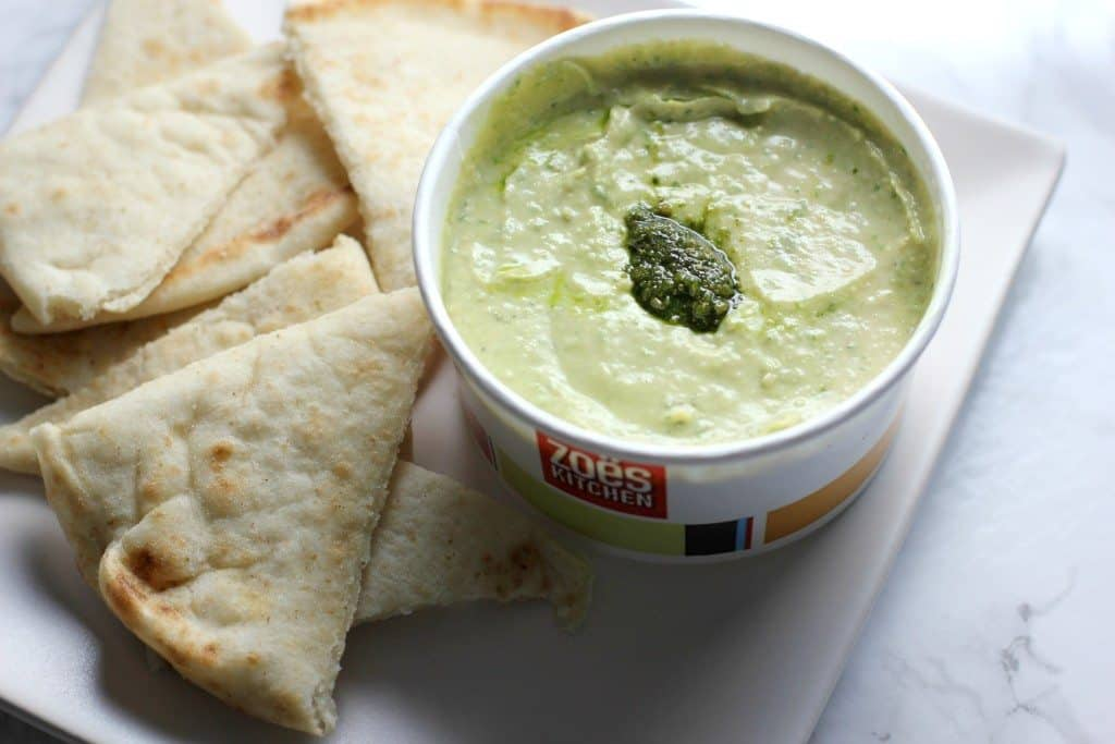 zoe's kitchen pesto hummus