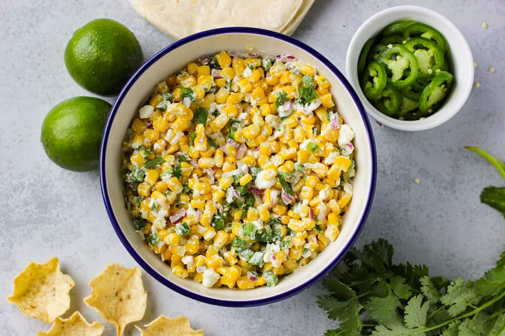 Mexican Street corn side dish