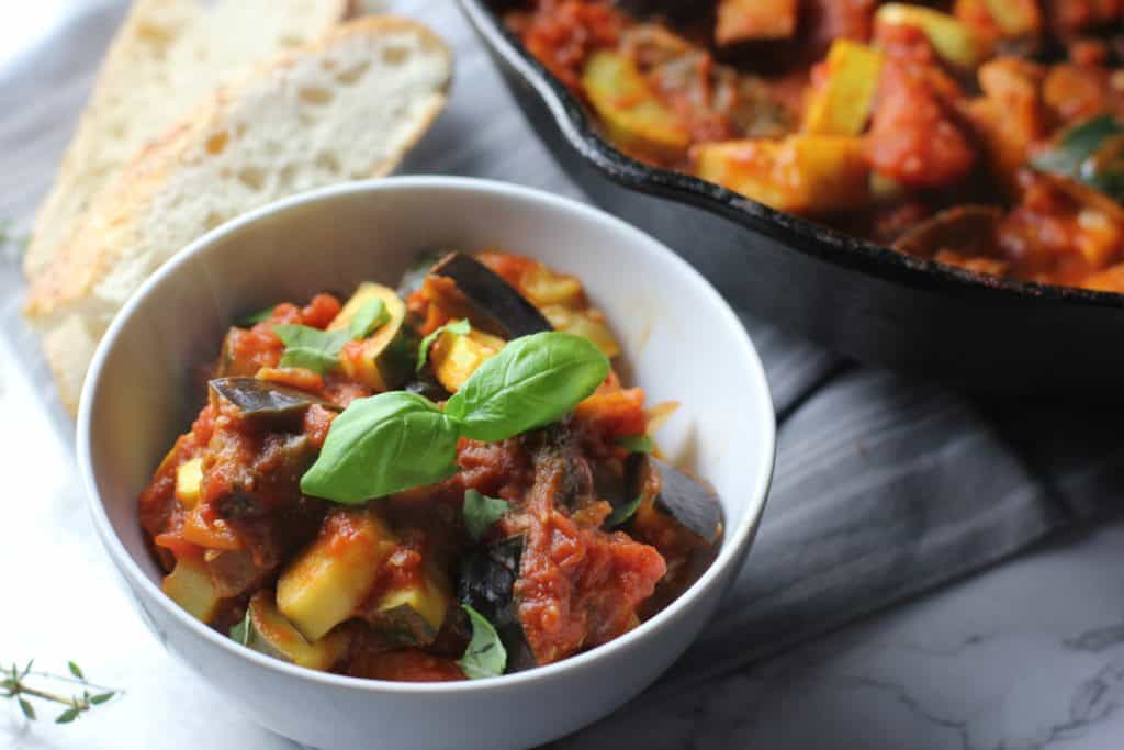 vegan one pan ratatouille