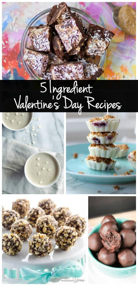 Valentine's Day Dessert Recipes don't have to be complicated! Try one of these easy, healthy, 5 ingredient recipes!