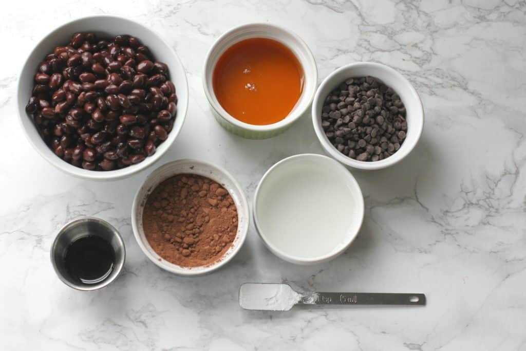 Brownie bite ingredients laid out