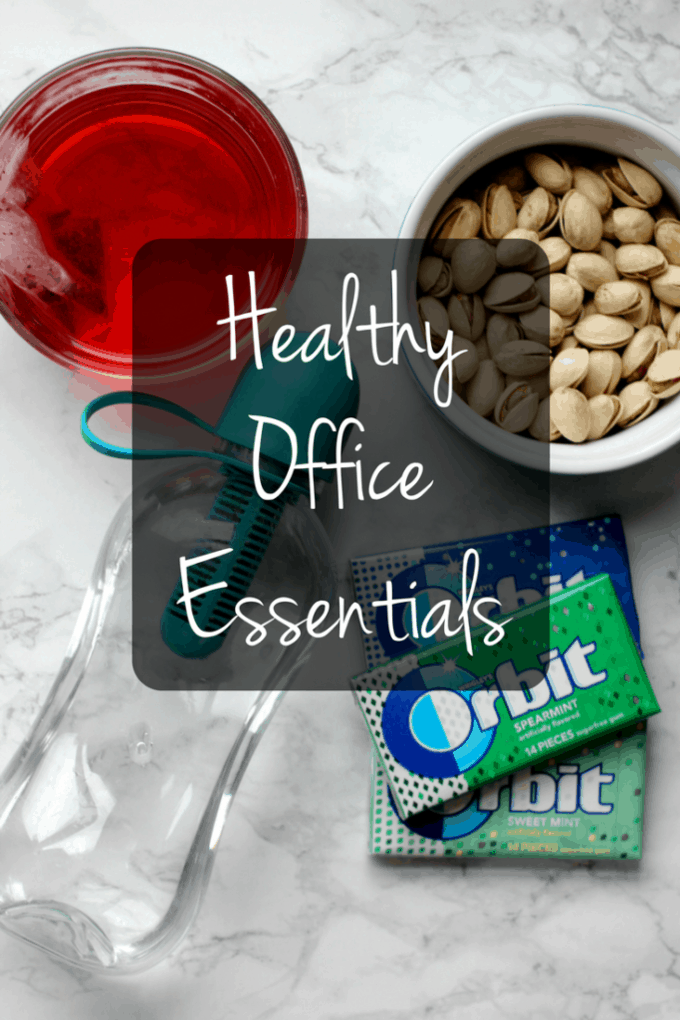 Meet your health goals by keeping a few of these essentials at your desk!