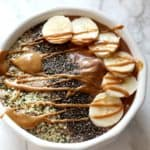 Peanut Butter Protein Smoothie Bowl