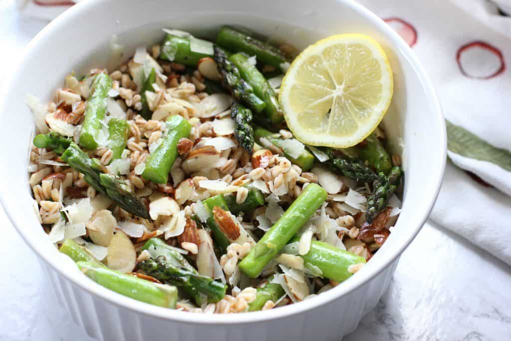 asparagus and farro salad