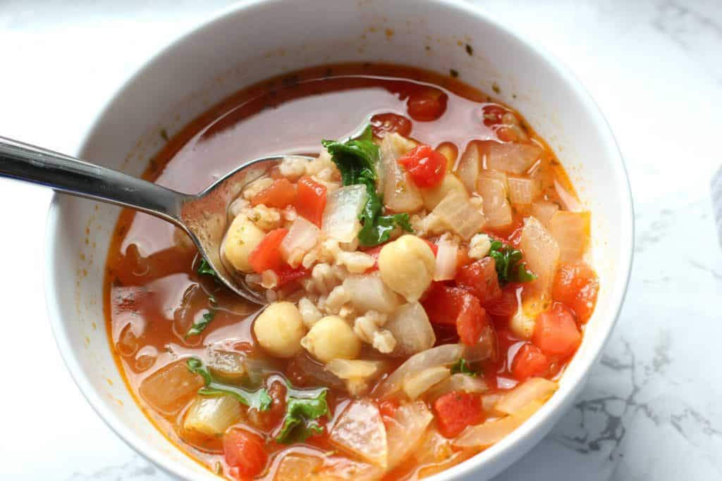 chickpea and farro soup Recipe