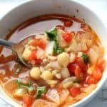 chickpea and farro soup Recipe