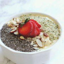 silk protein smoothie bowl