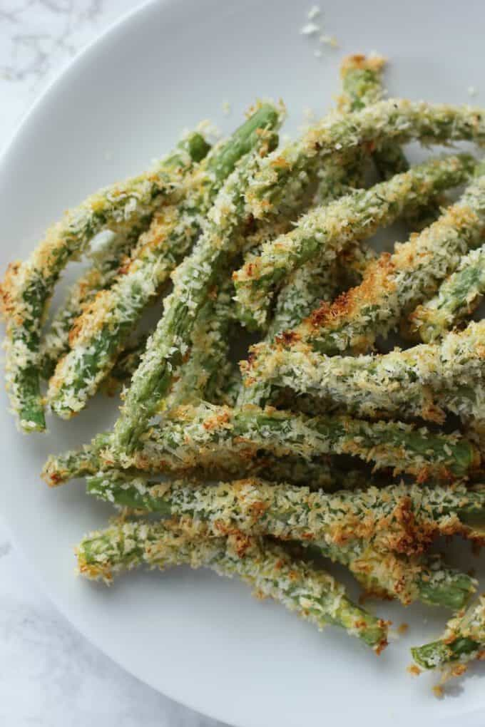 Crispy Oven-Baked Green Bean Fries - I Heart Vegetables