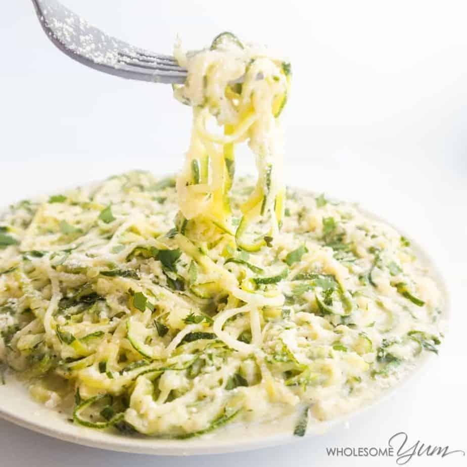 zucchini noodle alfredo