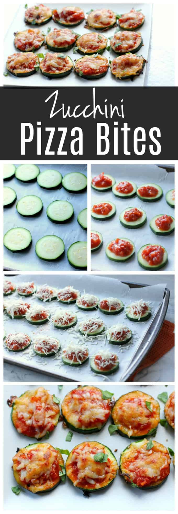 These zucchini pizza bites a healthy appetizer or dinner idea!