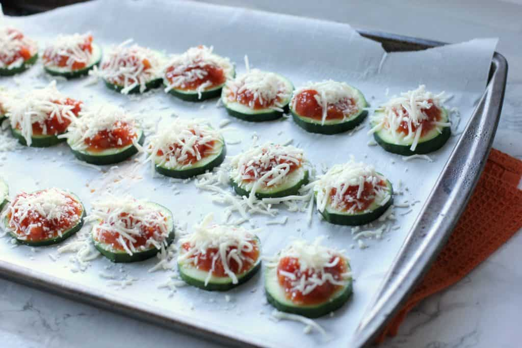 zucchini with sauce and cheese