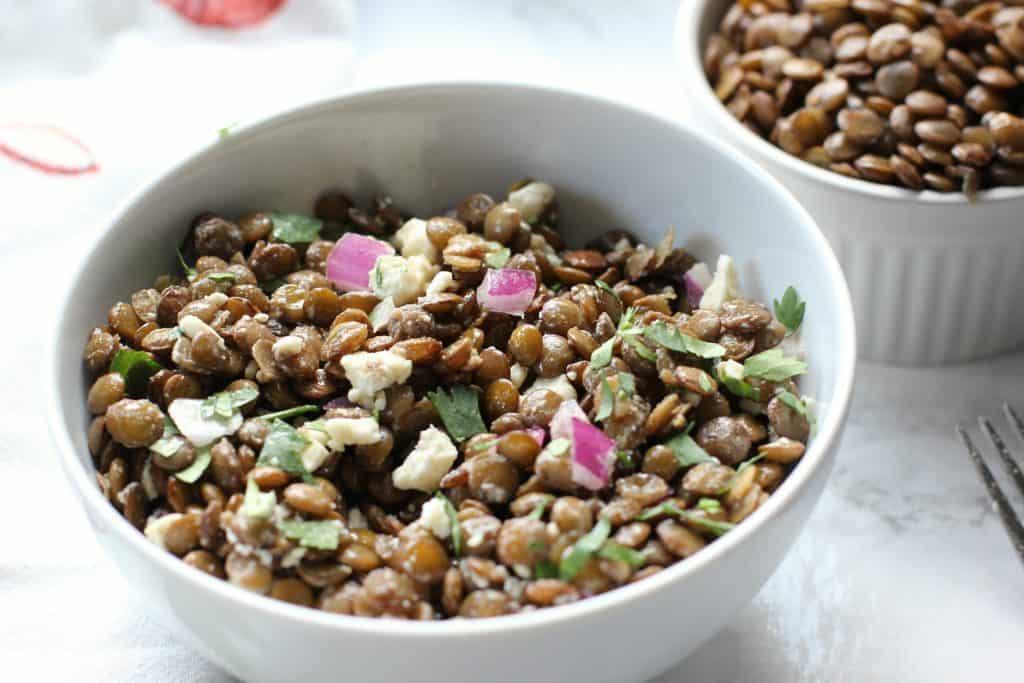 5 Minute lentil salad