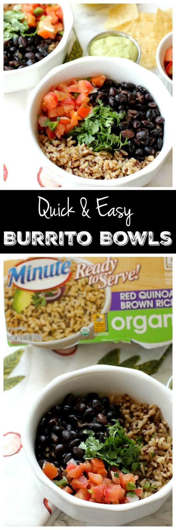 These burrito bowls aren't just delicious, they're SO EASY. You'll literally have lunch ready in 15 minutes flat, I promise! Plus, you'll want to eat the avocado lime sauce off a spoon.