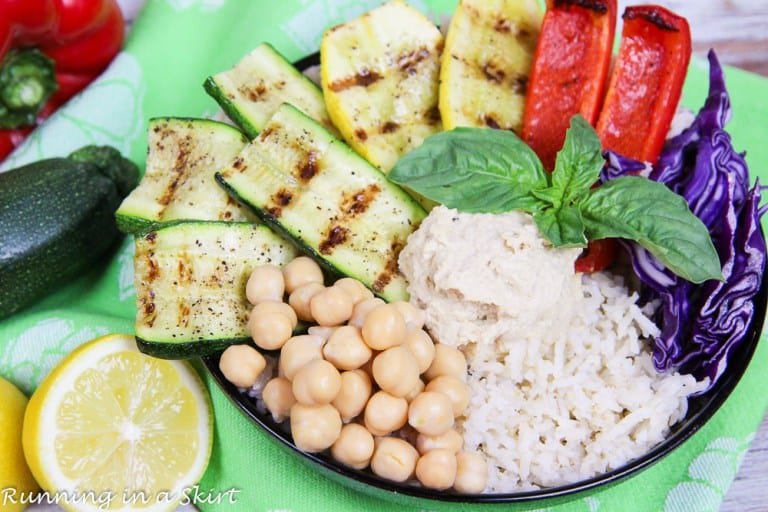 grilled vegetable buddha bowl