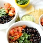 Quick and Easy Burrito Bowls with Avocado Lime Sauce