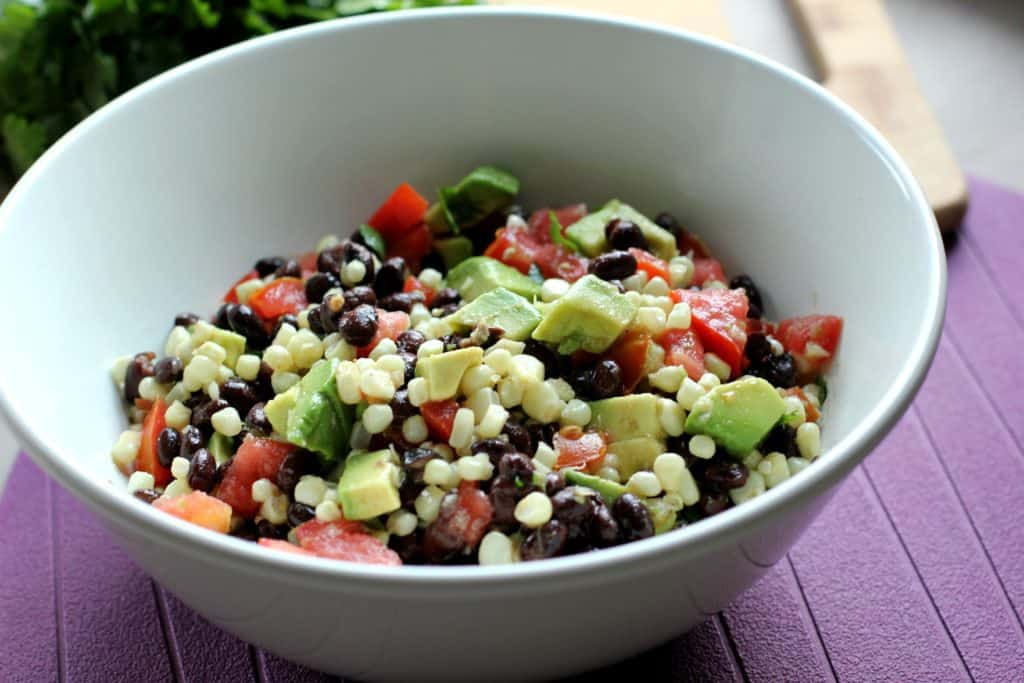 bowl of black bean and corn