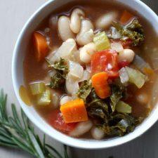 tuscan white bean soup cup