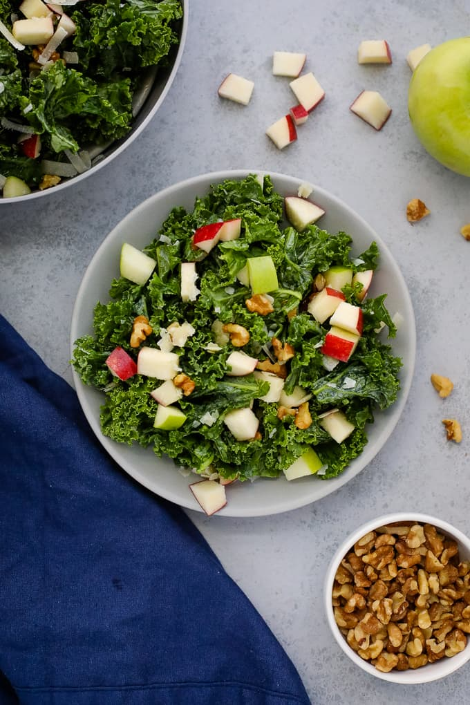 kale salad on a plate