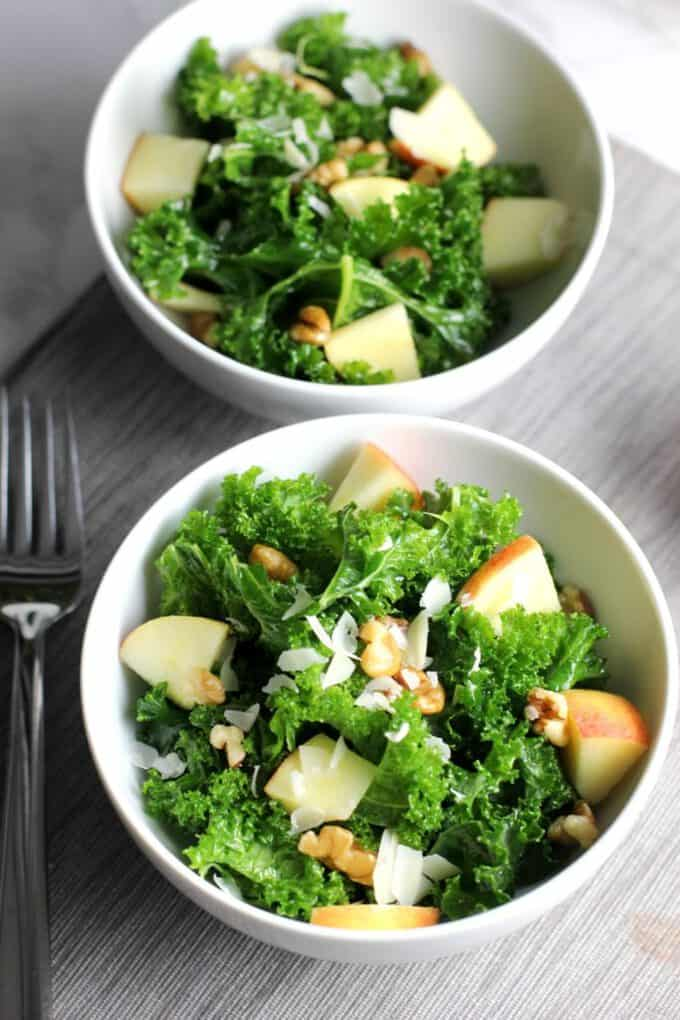 apple walnut kale salad recipe