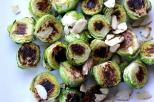 Stovetop Brussels Sprouts with Almonds