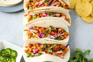 Buffalo Chickpea Tacos