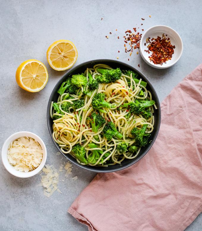 one pot broccoli lemon pasta