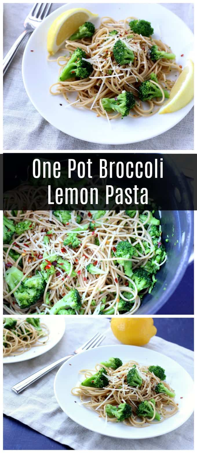 This one pot broccoli lemon pasta recipe comes together with just a few minutes of prep and a handful of pantry staples.