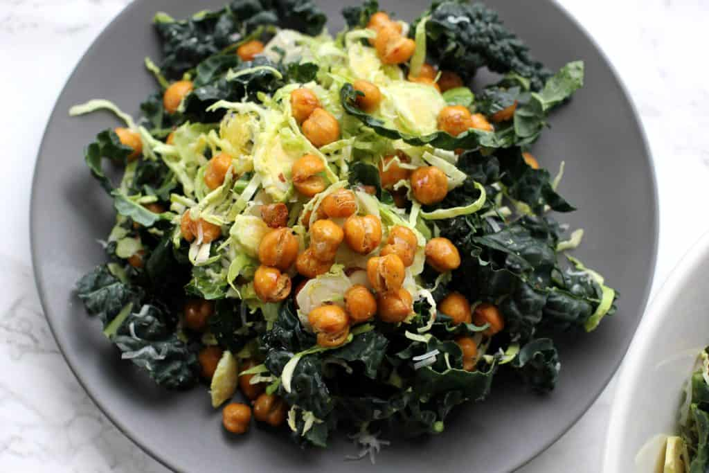 Chopped Kale and Brussels Sprout Salad