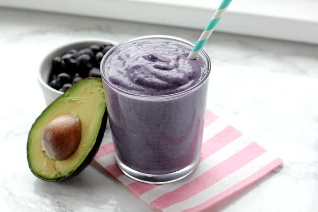 smoothie with half an avocado