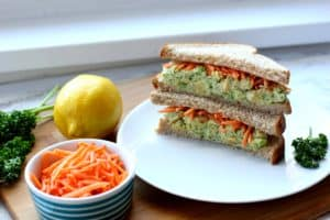 Green Goddess Chickpea Sandwiches
