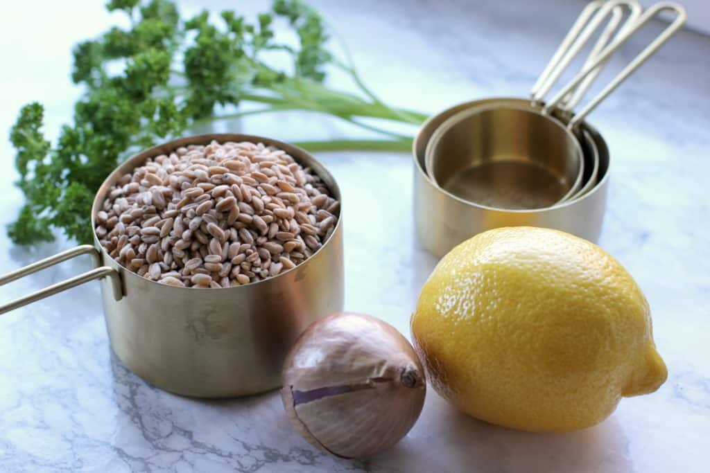 farro plated ingredients