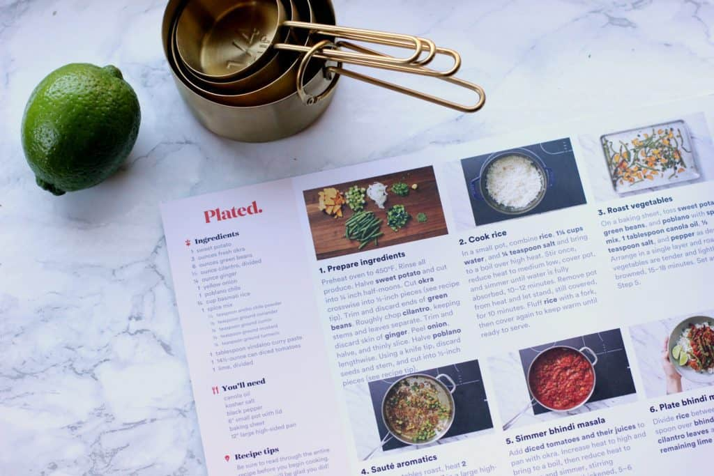 plated meal recipe card