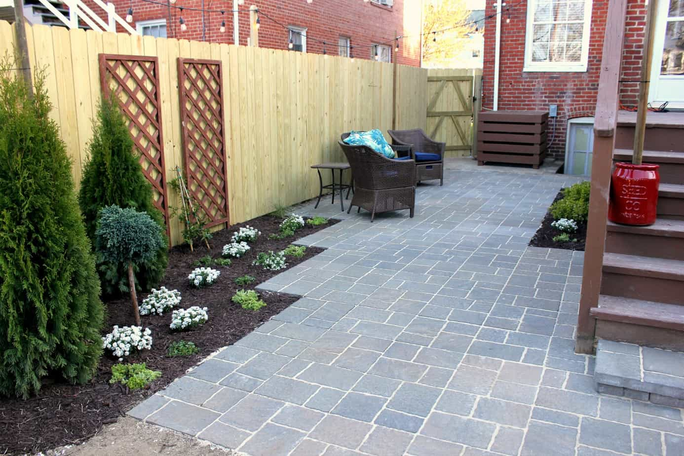 finished patio