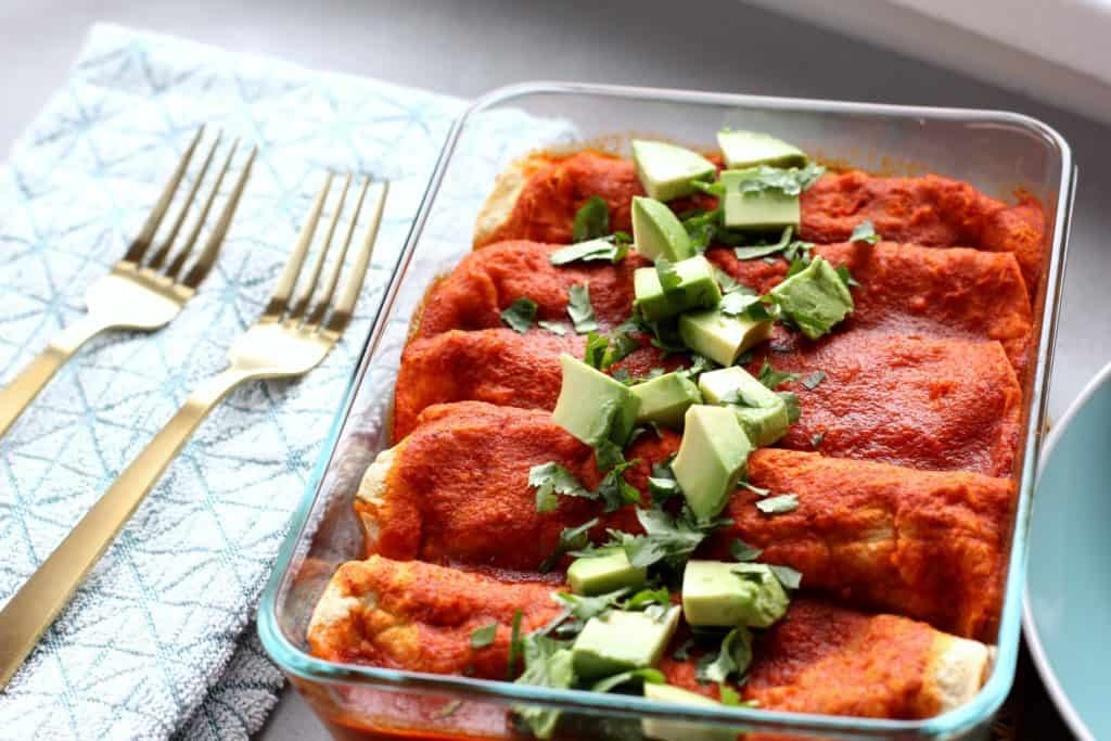 vegan black bean enchiladas