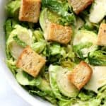caesar salad with brussels sprouts