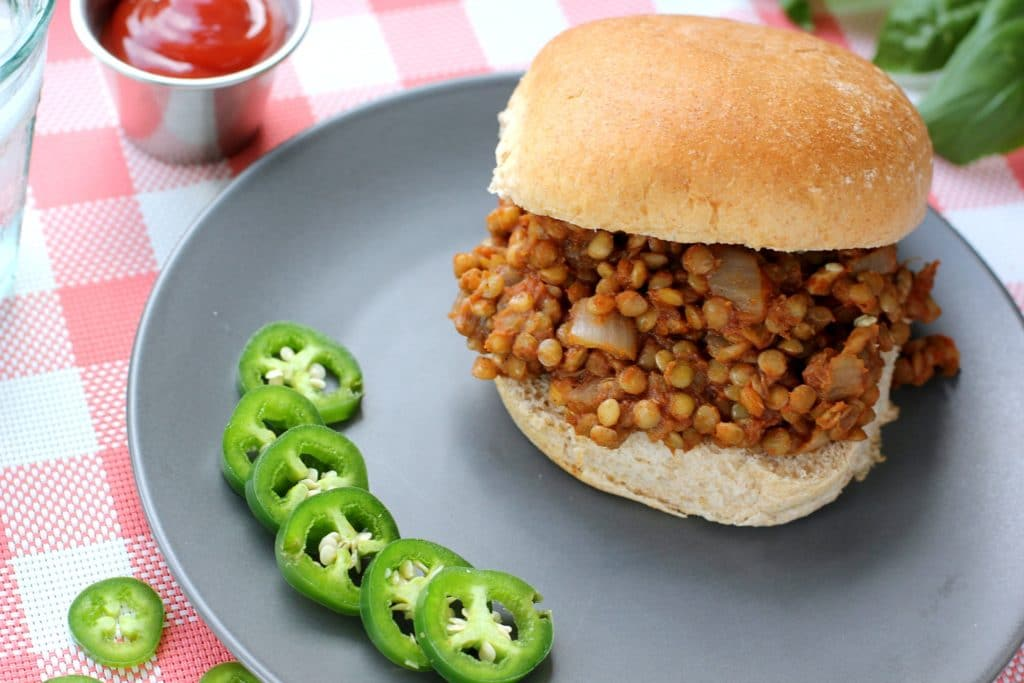sloppy joe on a grey plate