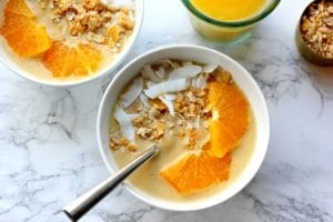 Vegan Orange Creamsicle Smoothie Bowl
