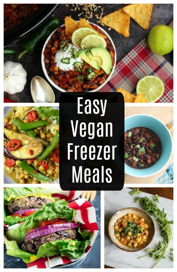With these easy, vegan, freezer meals, you'll always have healthy plant based dinner recipes on hand!
