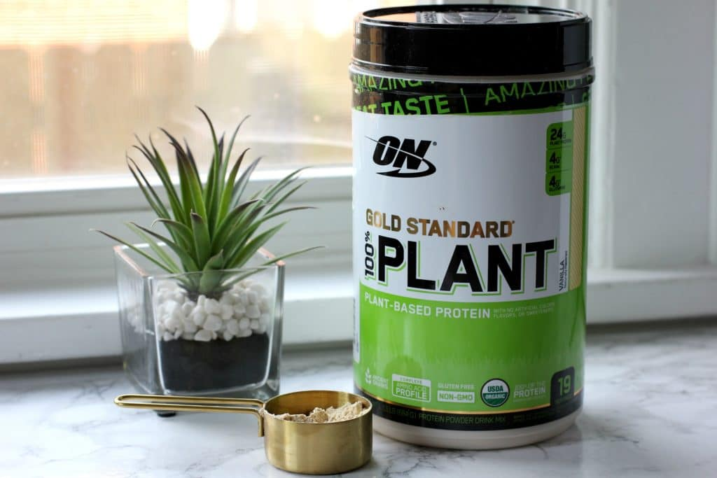 plant based protein container