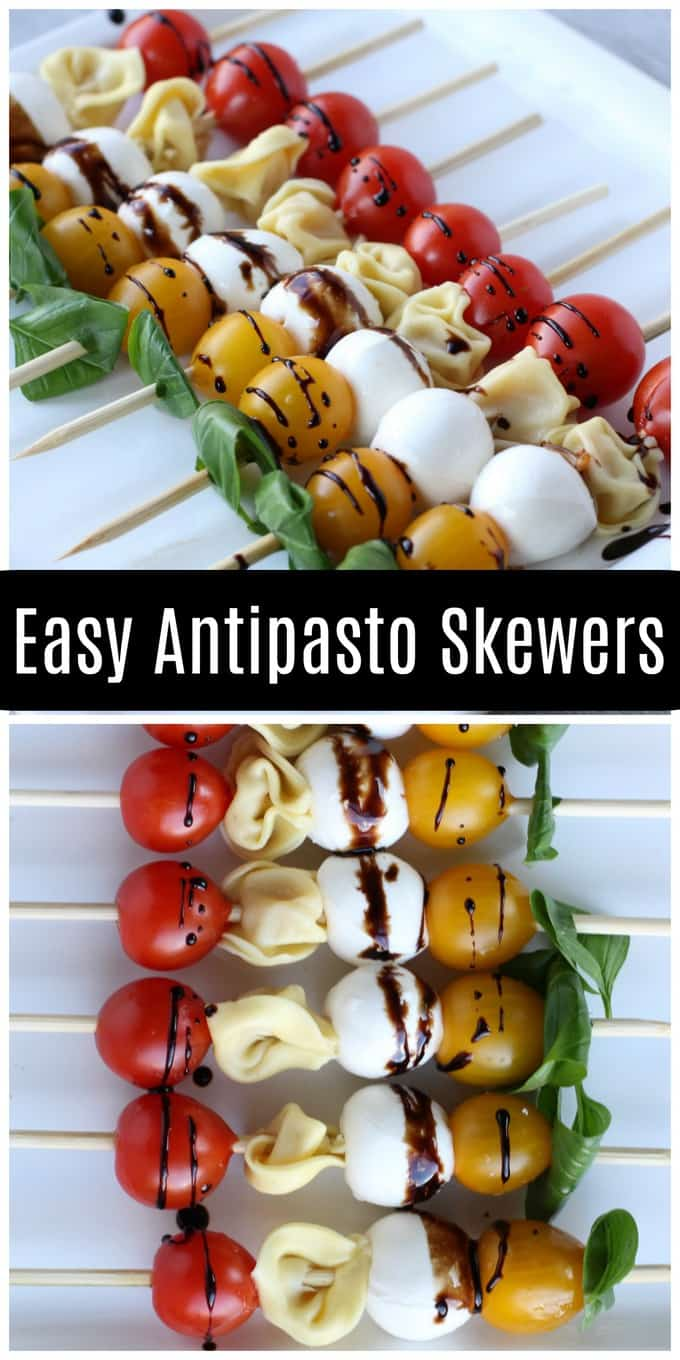 These easy antipasto skewers are the perfect appetizer to pair with a glass of Black Box Wines rosé! You can make them ahead of time so you can spend less time in the kitchen and more time with friends! Message for 21+ #BlackBoxWines