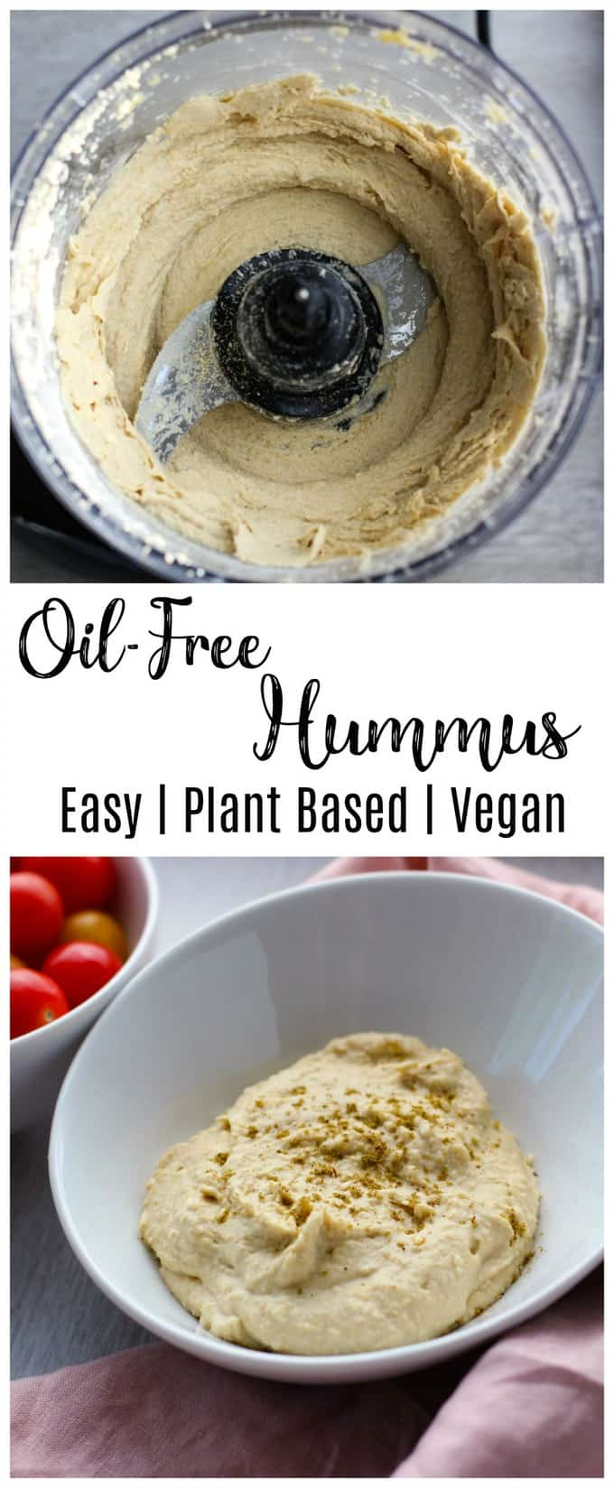 Easy Oil Free Hummus