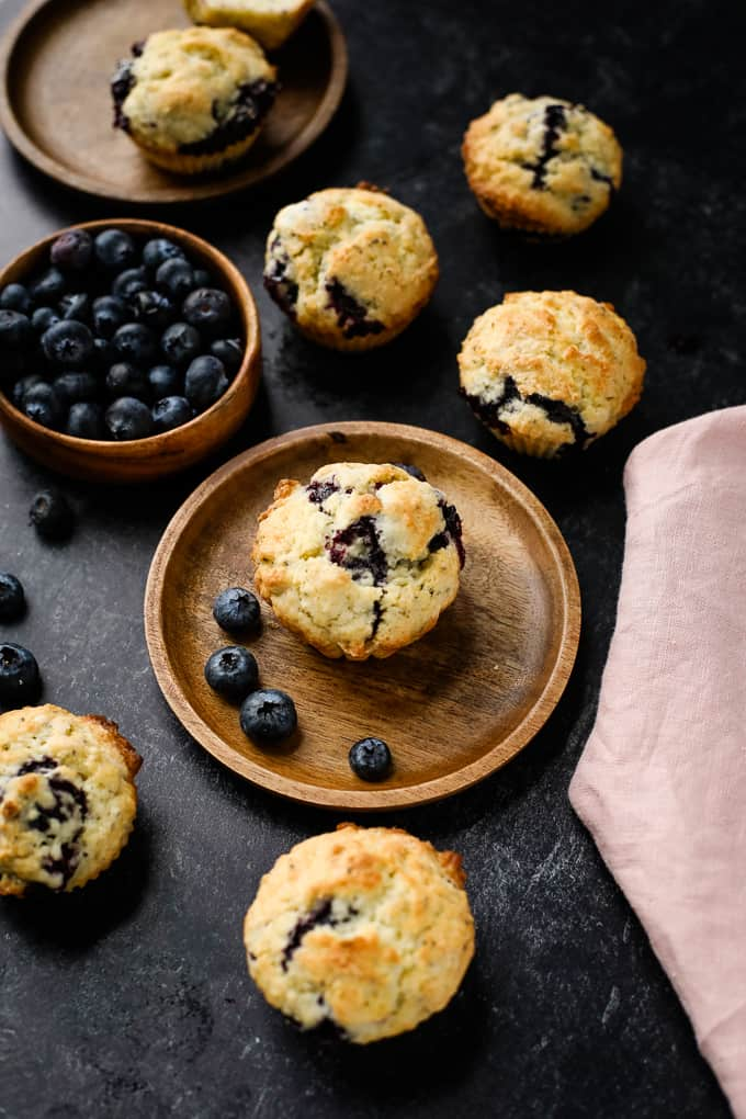 blueberry muffin on a plate