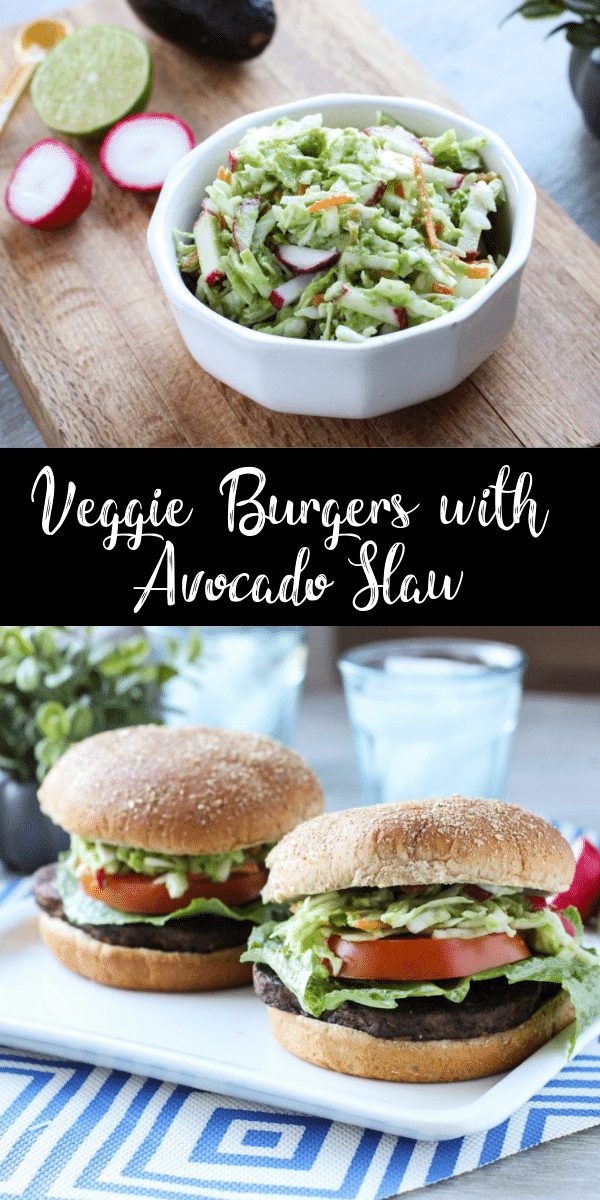 Loaded with veggies and plant-based protein, even a meat eater would enjoy these veggie burgers! Top a MorningStar Farms Quarter Pound Veggie Burger with this Avocado Slaw and you have a perfect tailgate meal!