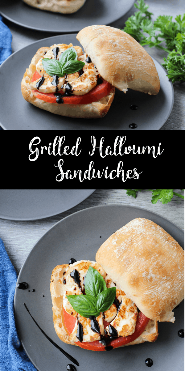 When you're looking for an easy weeknight recipe, these grilled halloumi sandwiches are your answer! It's a fast vegetarian recipe that can be made in less than 15 minutes!