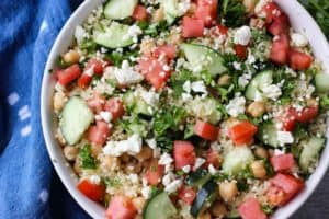 Mediterranean Couscous and Chickpeas