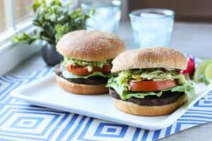 Veggie Burgers with Avocado Slaw